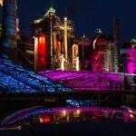 Weltkulturerbe Völklinger Hütte bei Nacht